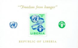 LIBERIA - 1963 Freedom From Hunger UN Mi Block 26, C150, SG879 MS MNH - Liberia