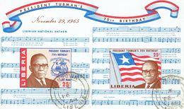 LIBERIA - 1965 Tubman Birthday Mi Block 35, C169a, MS Used - Liberia
