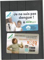 LA DERNIERE RECHARGE LIBERTE 1000cfp  Et La 3000                                 (BOITBUREA) - Nouvelle-Calédonie