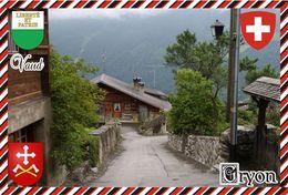 Postcard, REPRODUCTION, Switzerland, Canton Vaud, Gryon - Landkaarten