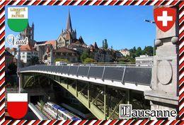 Postcard, REPRODUCTION, Switzerland, Canton Vaud, Lausanne - Landkaarten
