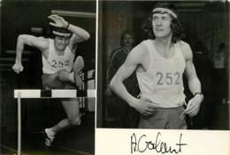 ATHLETISME POLONAIS ADAM GALANT AVEC DEDICASSE - Athletics