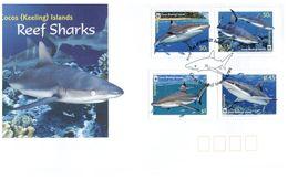 (C 20) Australia FDC - Australie Premier Jour - 2003 - Reef Sharks - Cocos (Keeling) Islands