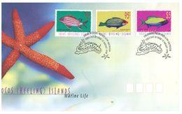 (C 20) Australia FDC - Australie Premier Jour - 1998 - Fish (incude $ 5.00) - Cocos (Keeling) Islands