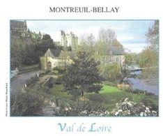 MONTREUIL BELLAY MAINE ET LOIRE - LE CHATEAU, PAP ENTIER POSTAL FLAMME DE LA VILLE, VOIR LES SCANNERS - Châteaux