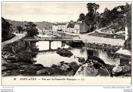 CPA (Réf :J100) 16. PONT-AVEN (FINISTÈRE 29) Vue Sur La Passerelle Rustique. LL - Pont Aven