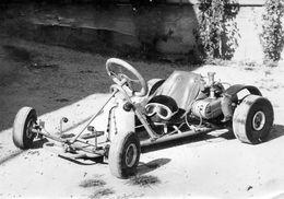 Photo 18 X 13 Cms.  Kart A Moteur - Casque - - Automobiles