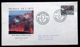 Greenland 1973  Heimaey Minr.86 The Volcano   FDC ( Lot Ks ) - FDC