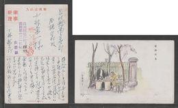 JAPAN WWII Military Picture Postcard MANCHUKUO CHINA Mudanjiang Hualin WW2 MANCHURIA CHINE MANDCHOUKOUO JAPON GIAPPONE - 1932-45 Manchuria (Manchukuo)