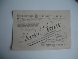 Gisors Sellerie Bourrelerie Charles Braun  Carte Commerciale - France