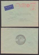 """Flensburg AFS Stadtarchiv """"Besucht Flensburg Die Nördlichste Stadt Deutschlands"""" 12.8.60. Lp-Brief Nach Berlin Akademie - Affrancature Meccaniche Rosse (EMA)"""