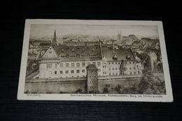 17177-                 NÜRNBERG, GERMANISCHES MUSEUM, HOHENZOLLERN-BURG IM HINTERGRUNDE - 1922 - Nuernberg