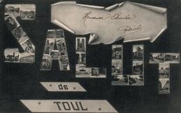 Souvenir, Salut De Toul - Multivues Dans Les Lettres 1904 - Librairie Oury - Saluti Da.../ Gruss Aus...