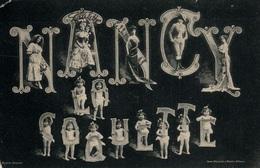 Souvenir De Nancy La Coquette - Multivues Fantaisie 1909 (Femmes, Couples, Enfants) - Impr. Réunis - Saluti Da.../ Gruss Aus...