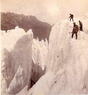 AK-0339/ Chamonix Bergsteiger Glacier Des Bossons Stereofoto V Alois Beer ~ 1895 - Stereo-Photographie
