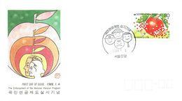 SOUTH KOREA -1988 National Pension Program Enforcement FDC - Korea (Süd-)