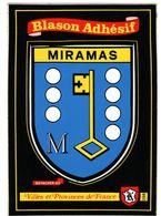 Miramas Blason Ecusson Adhesif Noir - France