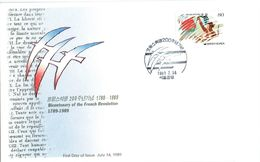 SOUTH KOREA -1989 Bicentenary Of French Revolution FDC - Korea (Süd-)