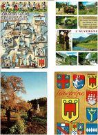 DIVERS AUVERGNE /  Lot De 45 Cartes Postales Modernes écrites - Cartes Postales