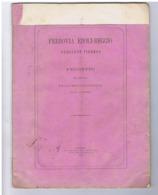 FERROVIA EBOLI REGGIO CALABRIA - PROGETTO ING. FRANCESCO GIORDANO + MAPPA - ANNO 1872 - Libros Antiguos Y De Colección