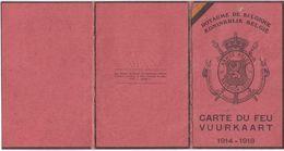 CARTE DU FEU - VUURKAART : 1914-1918 WW1 - Proisy René - CHIMAY - Génie - Artillerie - Document Unique - Documents