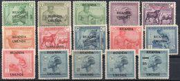 Ruanda-Urundi N° 62/76 X (neufs Avec Charnière - Mint Hinged) - Ruanda-Urundi