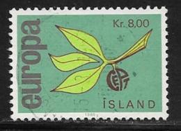Iceland Scott # 376 Used Europa, 1965 - 1944-... Republique