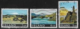 Iceland Scott # 412-14 Used Landscapes,1970 - 1944-... Repubblica