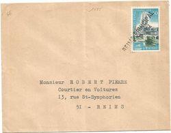 40C NIORT SEUL LETTRE GRIFFE REIMS PRINCIPAL EN ARRIVEE - Poststempel (Briefe)