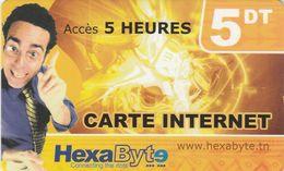 Tunisia, 5DT, Internet Card, 2 Scans. - Tunisie