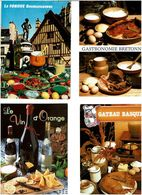 RECETTES -GASTRONOMIE  / Lot De 90 CPM écrites - Cartes Postales