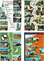 ROUTES - ITINERAIRES / Lot De 70 CPM écrites - Cartes Postales