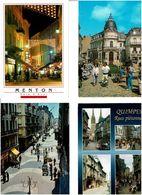 RUES PIETONNES / Lot De 45 CPM écrites - Cartes Postales