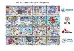 Tchad 2020, Anti Covid-19, Sheetlet - Geneeskunde