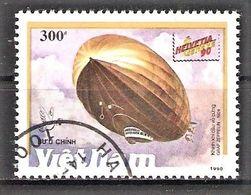 """Vietnam Mi.Nr. 2243 O Luftschiffe 1990 / Luftschiff LZ-129 """"Hindenburg"""" (#81) - Vietnam"""