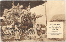 LA RENTREE DE LA RECOLTE DU LIN - Folklore