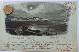 Gruss Aus Sissek, Pozdrav Iz Sizka, Sisak,Kroatien, Mondschein, 1899 - Kroatien