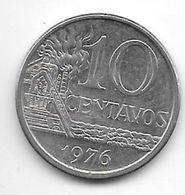 *brazil 10 Centavos  1976  Km 578.1a Xf+ - Brasilien