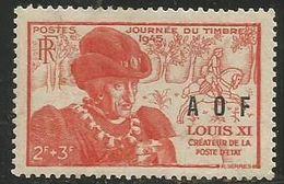 French West. Africa - 1945 Louis XI MH *  Mi 23  Sc B2 - Ungebraucht