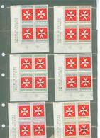 SMOM Quartine Segnatasse N. 11/16, Valore Catalogo 6,40 Euro - Sovrano Militare Ordine Di Malta
