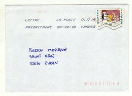Enveloppe FRANCE Oblitération LA POSTE 04171A 28/02/2009 - Sellado Mecánica (Otros)