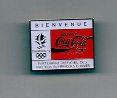 Pin's Coca Cola JO ALBERTVILLE 1992 - Jeux Olympiques