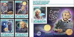 Djibouti 2020, Einstein, Eclipse, 4val +BF - Nobelprijs