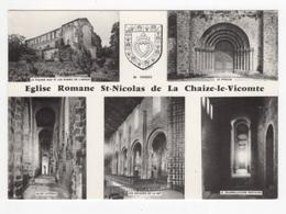 DF / 85 VENDÉE / LA CHAIZE-LE-VICOMTE  / EGLISE ROMANE SAINT-NICOLAS - CARTE MULTIVUES - La Chaize Le Vicomte