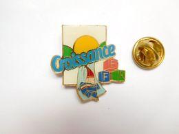 Beau Pin's , JO , Jeux Olympiques  Albertville  92 , Candia Croissance , Signé COJO 1991 - Jeux Olympiques
