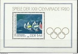 """DDR Bl.60 """"XXII. Olympiade 80""""  Postfrisch.Mi 2,80 - Blokken"""