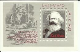 """DDR Bl.71 """"100. Todestag Von Karl Marx"""" Postfrisch Mi.-Preis 3,00 - Blokken"""