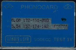 ISRAEL 1992 BEZEQ PHONECARD TEST 31 CODE 2 USED VF!! - Israel