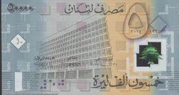 Liban  Lebanon   50.000 Livres 2014 Polymer - 50th Ann. Banque Du Liban - Liban