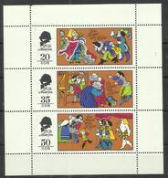 """DDR 2096-98 Klbg..""""Märchen, Des Kaisers Neue Kleider, """" Postfrisch Mi.-Preis 2,50 - Blokken"""